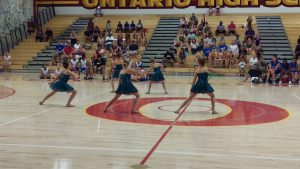 TTP Dance Co. performing as the halftime show at Ontario High.