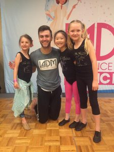 Our minis with one of their favorite teachers from LADM 2017