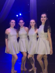 "Aletheia performing their dance, ""Clean,"" at Whittier Christian High School's annual dance concert."