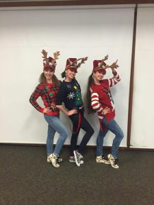 TTP Teachers just prance-prance-prancin' at the annual Bridge Chruch Christmas show