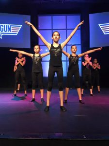 "Rehearsing a crowd favorite from our 2017 Spring Recital, ""Top Gun.""  These girls were dangerous!"